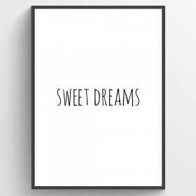 Sweet dreams - poster väggdekor