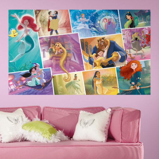 Disney Princessor collage - XL väggdekor