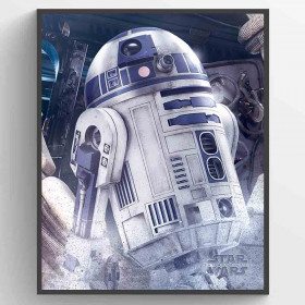 Star Wars The Last Jedi (R2-D2 Droid) Poster väggdekor