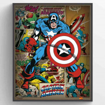 Marvel Comics (Captain America Retro) Poster