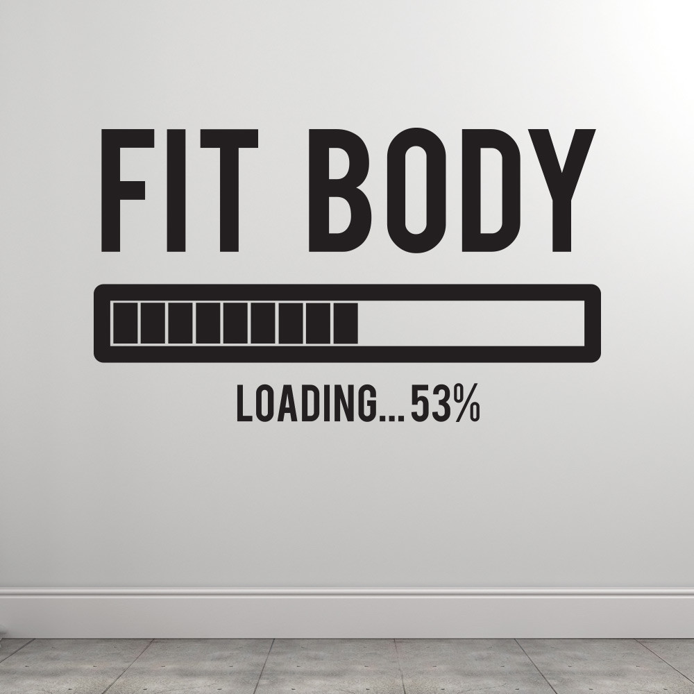 Fit body loading väggdekor