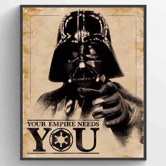 Star Wars Classic - Your Empire Needs You Poster väggdekor